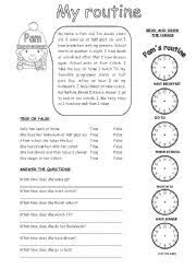 english worksheet my routine proyectos que intentar  english