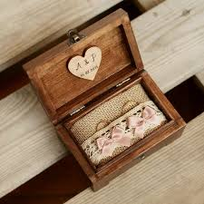 personalized wedding ring box wooden ring box by wedding ring box