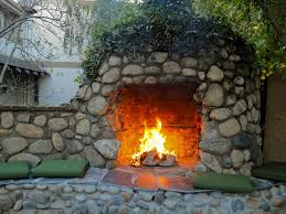 this large cobblestone fireplace