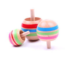 Wooden Spinning Top Game 100PCSSET Baby Wooden Toy Funny Colorful Spinning Top Classic Toy 85