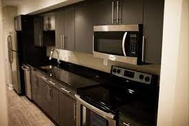 Townhouse Basement Galley Kitchen Contemporary Kitchen New York By User Houzz