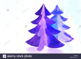 Purple Christmas Card Greeting Card Of Christmas Tree Made Of Paper For Your