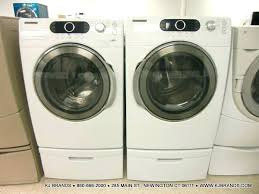 samsung front load washer pedestal.  Washer Dryer Pedestal Bundle Front Load Washer W White Chrome Stand Samsung Laundry  Platinum Stainless P Intended S