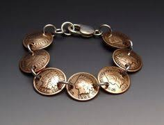indian pennies bracelet made from 7 vine american coins