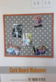 Cork Board to Family Photo Display