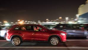 new car launches australiaBrandNew Mazda CX9 launch cars dock in Australia