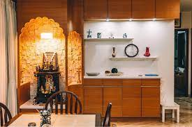 10 Latest Kitchen Pooja Room Designs With Pictures