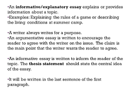 informational essay example how to write a informational essay  an informativeexplanatory essay explains or provides information about a topic