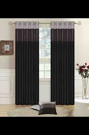 Black living room curtains Eyelet Living Room Curtains Idea Black Grey Silver Pinterest Living Room Curtains Idea Black Grey Silver For The Home