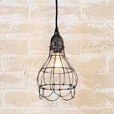 Industrial Cage Work Light Chandelier Industrial Cage Work Light Pendant Lighting Ceiling Lamp