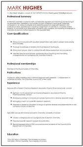 Cv London Cv Example With Publications Myperfectcv