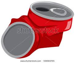 crushed can clipart. red can being crushed illustration clipart i