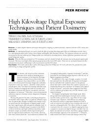 Pediatric Chest X Ray Technique Chart Pdf High Kilovoltage Digital Exposure Techniques And