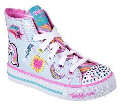 Skechers Light Up Unicorn Shoes Twinkle Toes Shuffles Twist N Turns