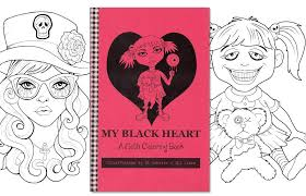 Adult Coloring Book Goth Girls Coloring By On Gothic Coloring Pages