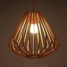 Senarai Harga Modern Nordic Style Wooden Diamond Pendant Light Lamp