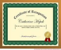 make a certificate online for free you can create a certificate of recognition in word for school or