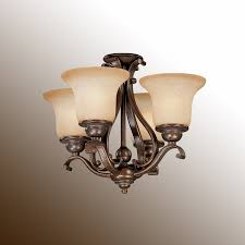 chandelier style ceiling fan light royal bronze w brushed cognac glass