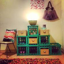 diy milk crate storage