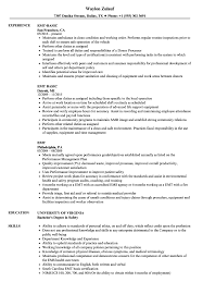 Emergency Medical Technician Resume Template EMT Resume Samples Velvet Jobs 19