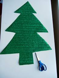 Christmas Tree In Chart Paper Christmas Tree Mural