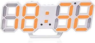 3D Digital Alarm Clock,Wall LED Number Time Clock ... - Amazon.com