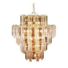 trans globe lighting 7166 pb acrylic beveled 16 light chandelier polished brass