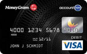 Accountnow gold visa prepaid card is issued by metabank tm, member fdic, pursuant to a license from visa u.s.a. Moneygram Accountnow Prepaid Visa Card Marketprosecure