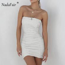 Nadafair/Клубное сексуальное <b>платье без бретелек</b>, Вечерние ...