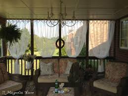 screened porch sheer curtains. Easy Screened Porch Update: Sheer Outdoor Curtains Add Privacy (and Pizazz!) L