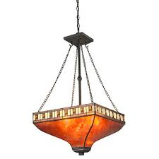 z lite crimson java bronze three light pendant with mica and honey amber tiffany glass