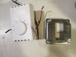 how to build a thermostat controlled outlet howandsometimeswhy take a look at the wiring diagram that comes your thermostat if you have a single pole it should just have two wires if you have a double pole like