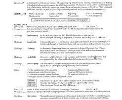 Office Assistant Resume Business Administration Resume Sle Administrator Resumes Medical 78