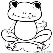 Small Picture Frogs Coloring Pages