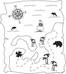 Kids N Fun Kleurplaat Piraten Schatkaart