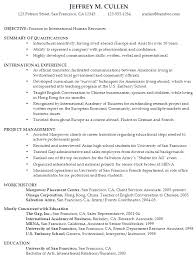 Sample Resume International Human Resources