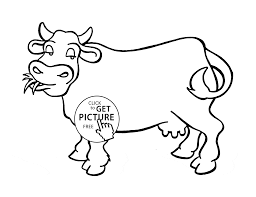 Small Picture Nice Cow coloring page for kids animal coloring pages printables