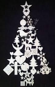 Shapes Christmas tree laser cut decoration