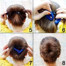 French Twist Hair Style amazon shells 2pcs classy black color cloth magic clip 5002 by stevesalt.us