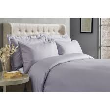 wilko best 300 thread count egyptian cotton duvet set silver super king image 1