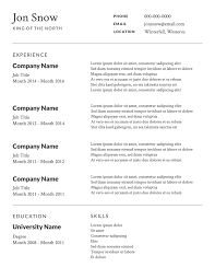 Free Job Resume Template Sample Resume Cover Letter Format