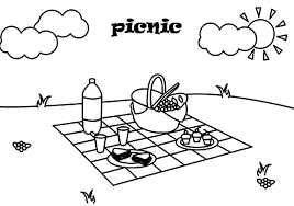 Small Picture Summer Day Picnic Coloring Page NetArt