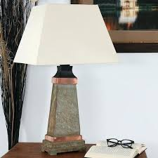 slate table lamp indoor outdoor copper trimmed slate table lamp inch tall next slate table lamp