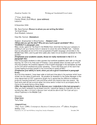 Sample Of Unsolicited Application Letter For Business Administration