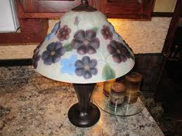 dale tiffany fl reverse painted puffy style lamp shade lamp globe tiffany 1900191705