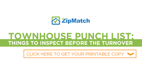 Townhouse Punch List: Things To Inspect Before The Turnover