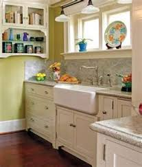 Cute craftsman bungalow kitchen. LOVE the sink. This to me is the perfect  kitchen