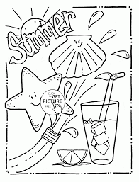 Small Picture Tasty And Funny Summer Coloring Page For Kids Seasons In Coloring