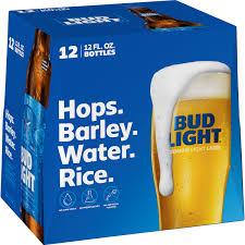 12 Pack Of Bud Light Bottles Cost Bud Light Beer 12 Pack Beer 12 Fl Oz Bottles Walmart Com