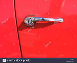 door handle on mercedes benz classic car Stock Photo Royalty Free